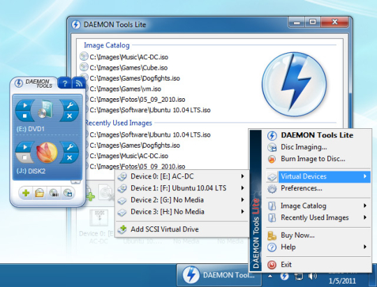 Daemon tools скачать бесплатно для windows 7. Daemon tools lite v.