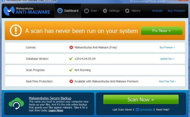 Malwarebytes Anti-Malware 2.2.0