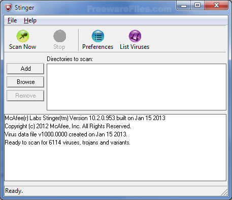 McAfee Stinger 12.1.0.2011